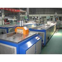China Decking WPC Profile Extrusion Line / PVC Wood Plastic Composite Extruder on sale