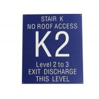 "Stair Signs Wayfinding Signage Straight Edge No Braille With 1/32"" Tactile Text Manufactures"