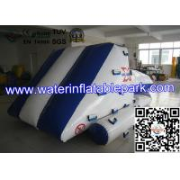 Blue White Inflatable Iceberg With Blob / Inflatable Water Games For Kids , Children Manufactures