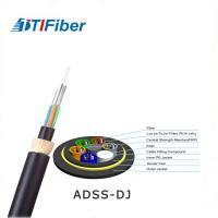 Lightweight Fiber Optic Network Cable 24 48 Core ADSS Outdoor Aerial Low Friction Sheath Manufactures