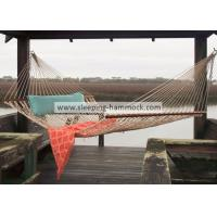 Large Two Person Polyester Rope Hammock Oatmeal , 55 Inches Classic Rope Hammock Manufactures