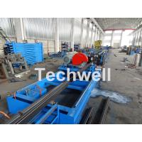 Galvanized Steel Cold Roll Forming Machine With High Speed 12-15m/min For Rack Box Beam / Step Beam Manufactures