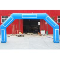 China Giant Blue Inflatable Start Finish Arch Digital Printing With Custom Logo Banner on sale