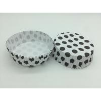 Round Shape Wedding Black And White Polka Dot Cupcake Liners Greaseless Non Stick Manufactures