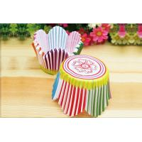 China Rainbow Color Flower Shape Anti-Oil Muffin Paper Cups For Cupcake Baking on sale