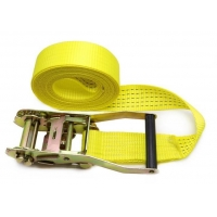 Yellow Webbing Lashing Strap With 100% High Tenacity Polyester Yarn Belt Material Manufactures