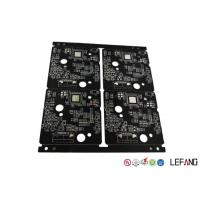 Burglar Alarm High Frequency PCB , Quick Turn Pcb Fabrication 4 Layers Black Solder Mask Manufactures