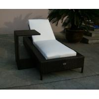 Folding Beach Lounge Chair , Outdoor Garden Wicker Chaise Lounge Manufactures