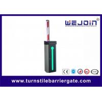 Automatic Car Park Barrier Gate with Protective Rubber and LED Traffic Light Boom