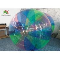 1.0 mm PVC Stripe colorful Blow Up Water Walking Ball For Amusement Park Manufactures