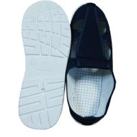 Four Hole Blue Canvas ESD Safety Shoes Comfortable / Convenient For Clean Room Manufactures