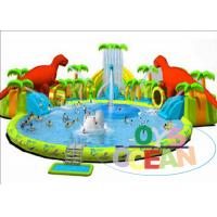 Colorful Inflatable Floating Water Park / Kids Inflatable Water Games For Summer Manufactures