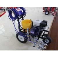 2 Gun Commercial Road Line Marking Machine With Piston Pump Manufactures