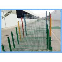 3D 3V Powder Coating Welded Wire Mesh Fence 2.5 Meter Width Curved Manufactures