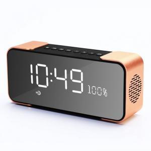 China Alarm Clock display Portable Wireless Speaker with FM Radio Bluetooth speaker with goof quality on sale