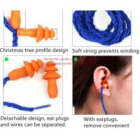 Soft Silicone Corded Ear Plugs ears Protector Reusable Hearing Protection Noise Reduction Earplugs Earmuff Manufactures
