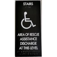 Non Glare Interior ADA Door Signs 1/4 Inch Acrylic With Clear Braille Dots Manufactures