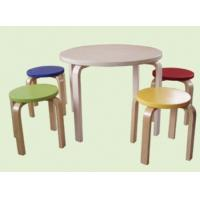 Cheap Children wooden Table with 4 stools for sale