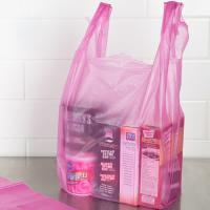 China Durable T Shirt Plastic Bags , Custom Printed T Shirt Bags HDPE Material on sale