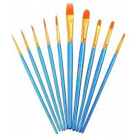 Paint Brush Set Acrylic 10pcs Professional Paint Brushes Artist for Watercolor Oil Acrylic Painting Manufactures