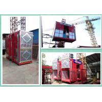 Energy Saving High Twin Construction Material Hoist With Magnetic Motor Brakes