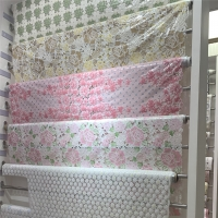 Buy cheap 137cm X 20m Pvc Vinyl Lace Tablecloth As Lace Table Covers Pink Color from wholesalers
