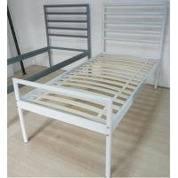 Sturdy metal bed, color customzied and single size, easy to assemble