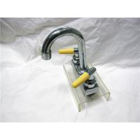 Chrome Plated Two Handle Kitchen Faucet With Pull Down Sprayer / Two Ceramic Handle Manufactures