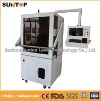 China 50W Europe standard fiber laser marking machine with Full enclosed structure on sale