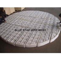 PP / Nylon Knitted Wire Mesh Demister Pad For Filtering And Separating In Recation Tower Manufactures