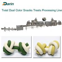 Dog Chewing Treats Dog Food Extruder / Pet Treats Chews Extruder Manufactures