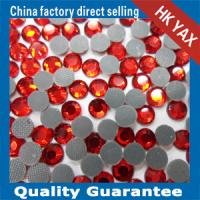 lead free hot fix pedreria red color Manufactures