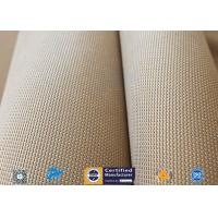 """Brown 31oz Silica Fabric 800℃ Working Temperature 0.05"""" Thick Fireproof Curtain Manufactures"""