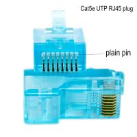 China Networking Cable OEM 8P8C CAT5E Ethernet Cable Plugs with transparent on sale