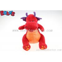 Hot Sale Soft Plush Red Dinosaur Toy With Purple Shiny Wings Manufactures