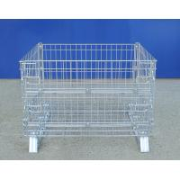 Portable Wire Container Storage Cages With Self Locking Handles Manufactures