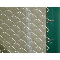 Green / Blue Chain Link Fence , PVC Coated Mesh Fencing For Architecture Fields Manufactures