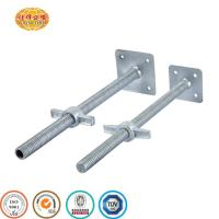 China M38 steel ERW pipe ringlock adjustable screw jack base for scaffolding on sale