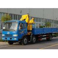 High Quality Commercial Knuckle Boom Truck Mounted Crane , 6300kg Weight for Lifting