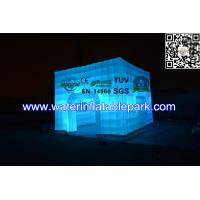 Cube Inflatable Wedding Party Tent With Led Lighting , Inflatable Cube Booth Manufactures