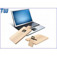 Cheap Credit Card USB Flash Pen Drive 4GB Capacity Data Storage Wood Material for sale