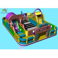 Music Theme Piano Inflatable Amusement Park Giant Commercial Jumping Castle Manufactures