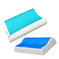 Contour Gel Memory Foam Pillow For Airplane / Bedding / Bath Washable Velour Cover Manufactures