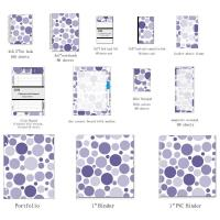Buy cheap Business Blank Spiral Bound Index Cards With Mixed Navy Dots organize documents from wholesalers