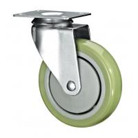 "5"" Polyurethane PU Caster Wheel Swivel For Case Carts And Utility Carts Manufactures"