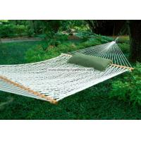 Backyard Comfortable Deluxe Polyester Rope Hammock Bright White including Two Tree Hooks Manufactures