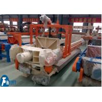 100m2 Industrial Filter Press Fully Automatic Controlled With Filter Cloths Washing Device Manufactures