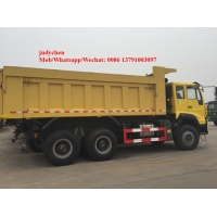 Yellow Sinotruk Howo 6x4 371hp Heavy Duty Dump Truck Manufactures