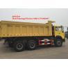 Buy cheap Yellow Sinotruk Howo 6x4 371hp Heavy Duty Dump Truck from wholesalers