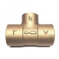 China 1/2 Female Thread Brass Plumbing Tee Fitting Used In Water / Gas on sale